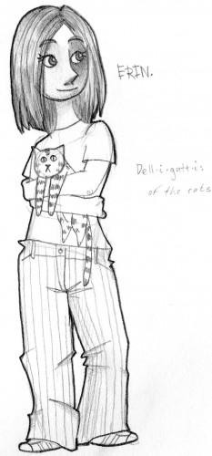 Erin holding cat